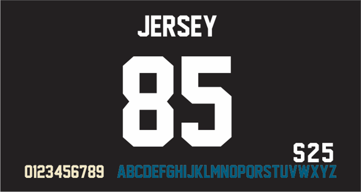 Jersey M54 font by justme54s