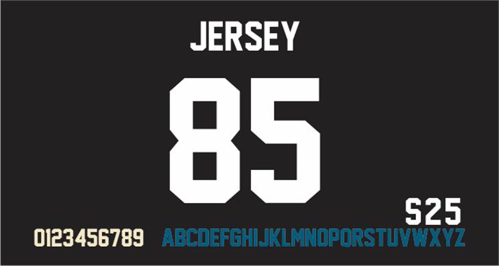 Jersey M54 Font poster design