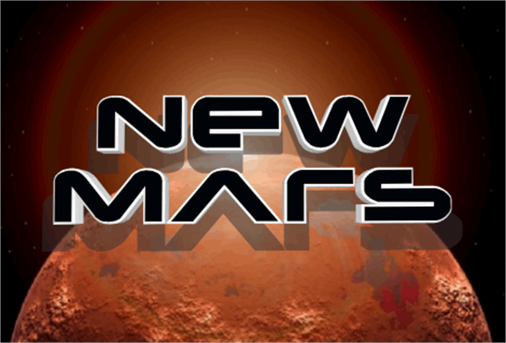 New Mars Font screenshot design