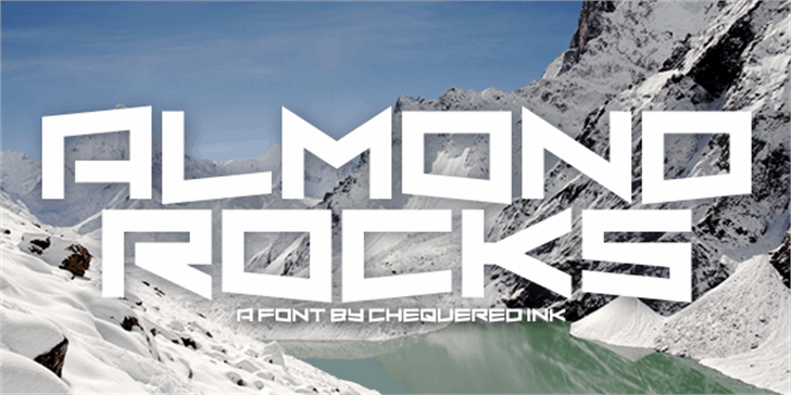 Almond Rocks Font snow outdoor