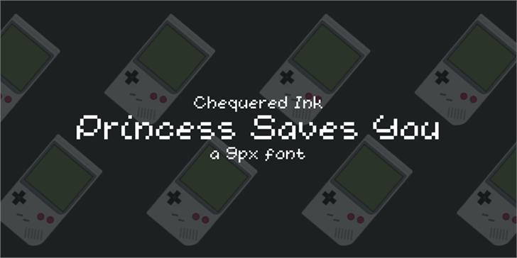 Princess Saves You font by Chequered Ink