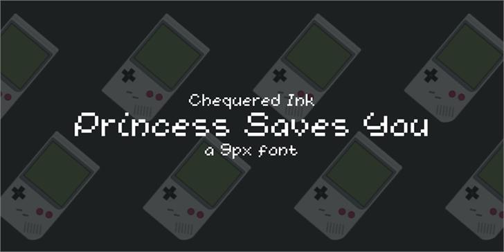 Princess Saves You Font screenshot design