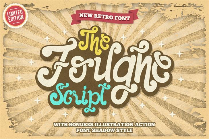 The Foughe Script font by Kotak Kuning Studio