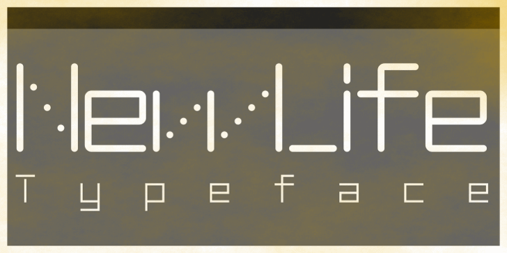 NewLife-Square Font screenshot design