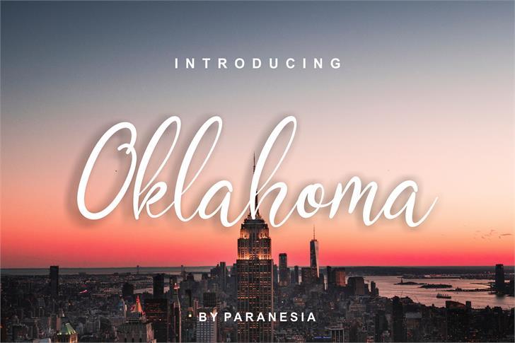 Oklahoma Script Font outdoor sky