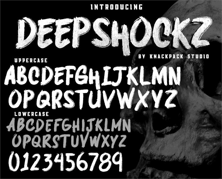 DEEPSHOCKZ   DEMO font by knackpackstudio
