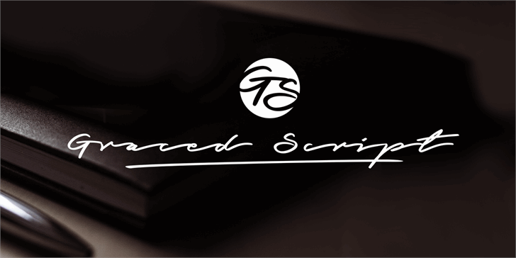 Graced Script PERSONAL USE Font design handwriting