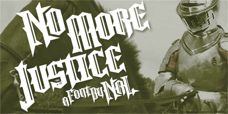 No More Justice font by Chequered Ink