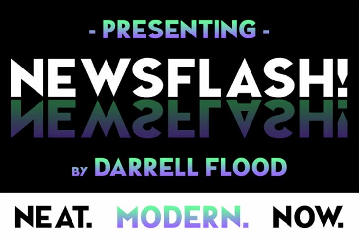 NEWSFLASH font by Darrell Flood