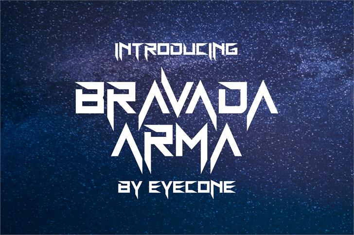 BravAda Arma font by eyecone