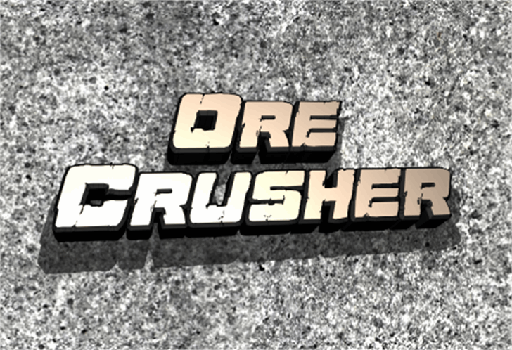 Ore Crusher Font poster
