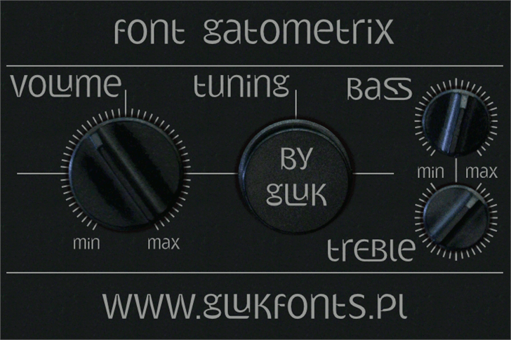 Gatometrix font by gluk