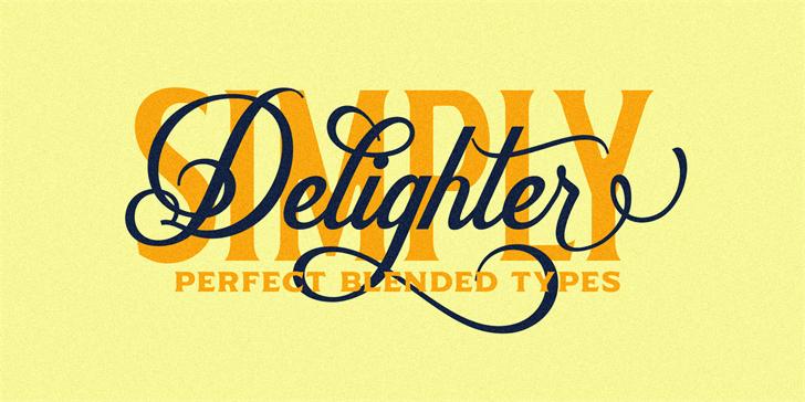 Delighter Script Font poster