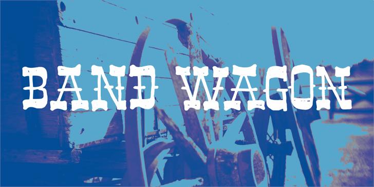 Band Wagon DEMO Font sky text