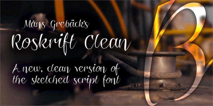 Roskrift Clean Font text handwriting