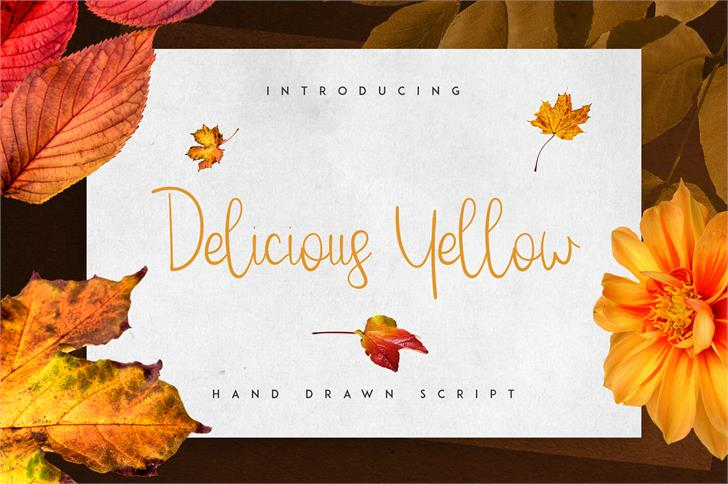 Delicious Yellow font by vladfedotovv