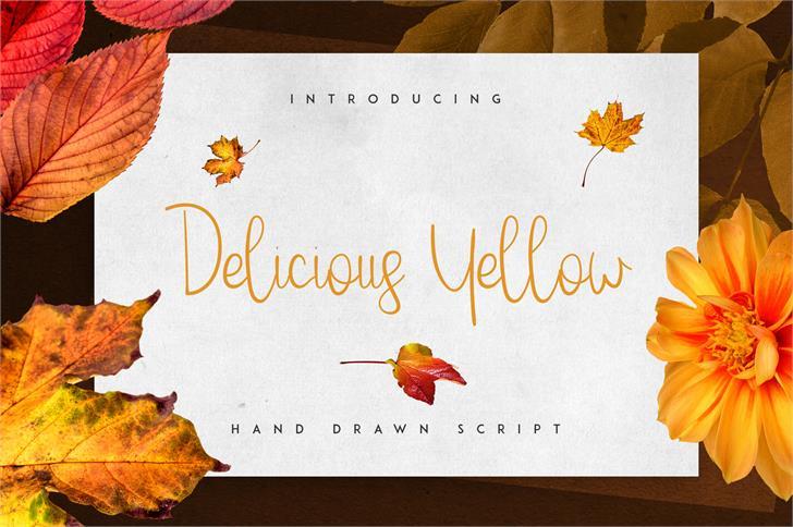 Delicious Yellow Font child art handwriting