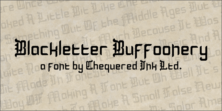 Blackletter Buffoonery Font handwriting text