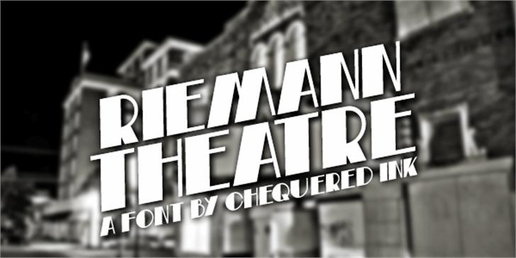 Riemann Theatre Font building text