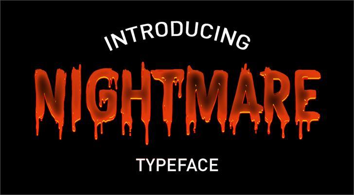 CF Nightmare PERSONAL Font poster design