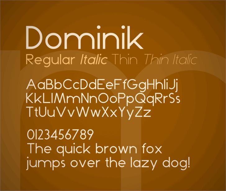 Dominik font by Zdeněk Gromnica