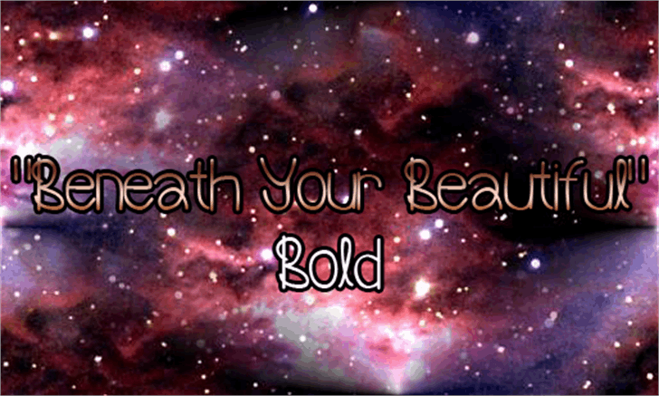 Beneath Your Beautiful Bold font by Magic Fonts