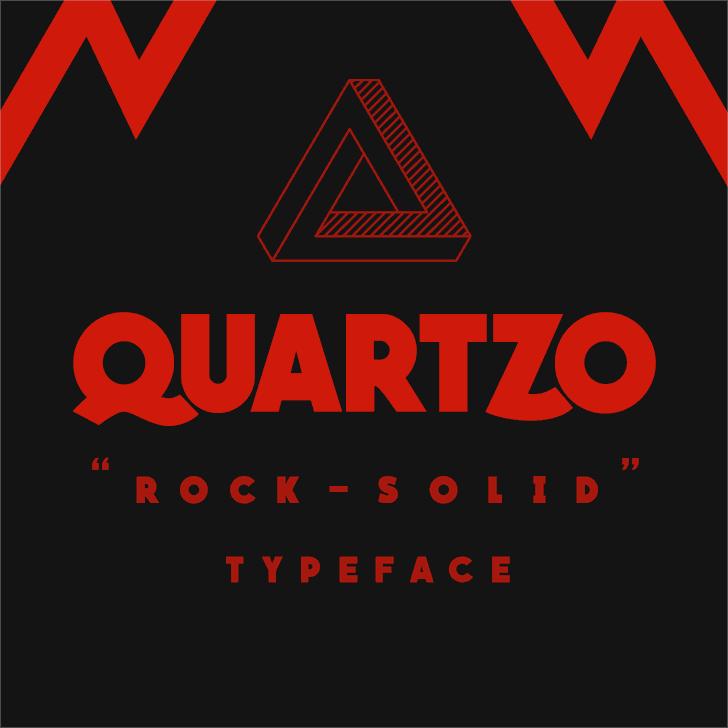 QUARTZO demo Font poster design
