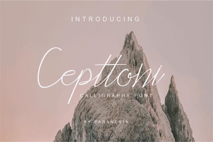 Cepttoni calligraphy Font mountain outdoor