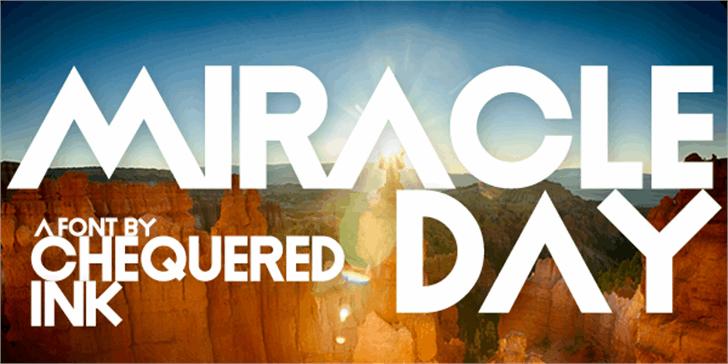 Miracle Day Font screenshot sign