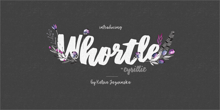 Whortle font by Katsia Jazwinska