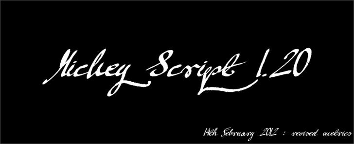 Mickey Script Font handwriting design