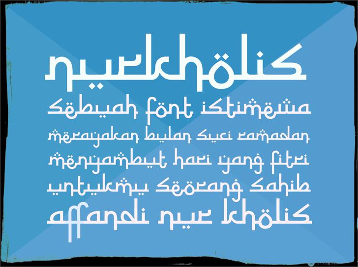 Nurkholis Font screenshot design
