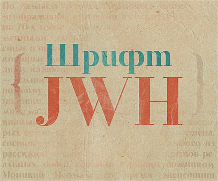 JWH Font text poster