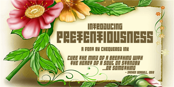 Introducing Pretentiousness Font indoor plant