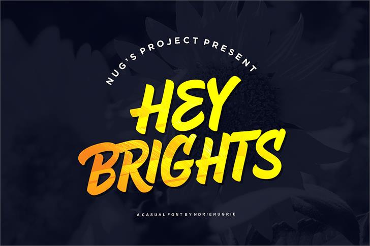 Hey brights Font text
