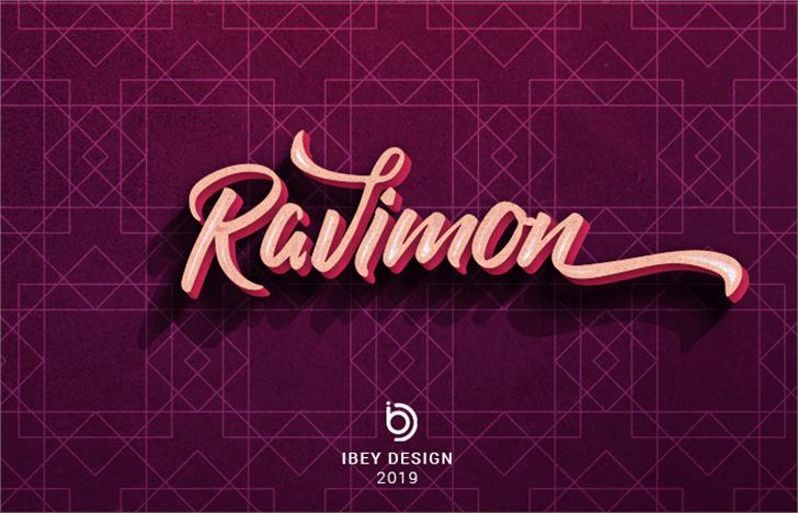 Ravimon Demo Font poster