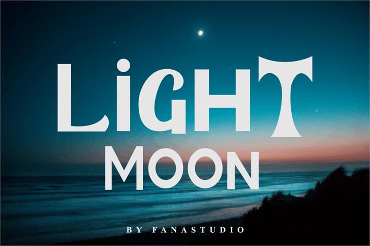 LIGHT MOON Font screenshot design