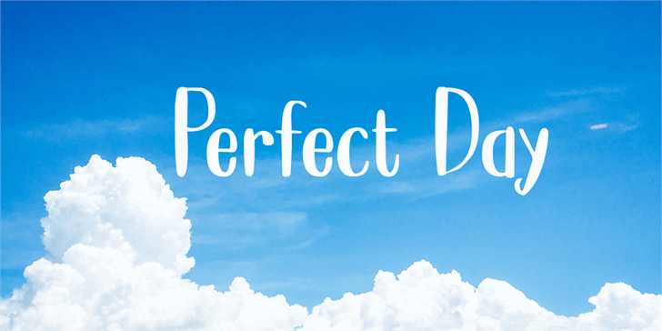 Perfect Day DEMO Font outdoor screenshot