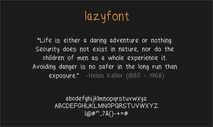 lazyfont by LALATO FONTS