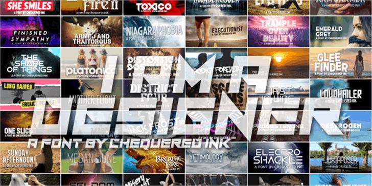 I Am A Designer Font screenshot poster