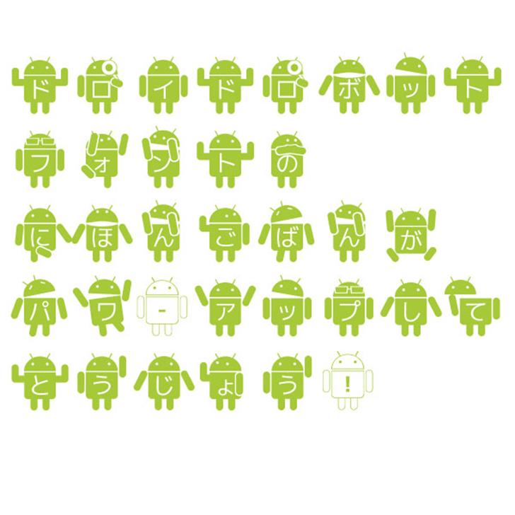 Droid Robot Japanese font by mikan