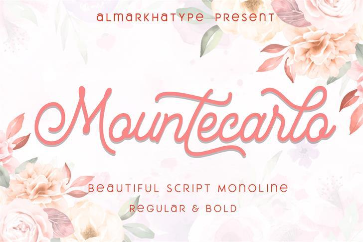 Mountecarlo Font poster