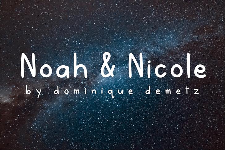 NoahandNicole Font screenshot design