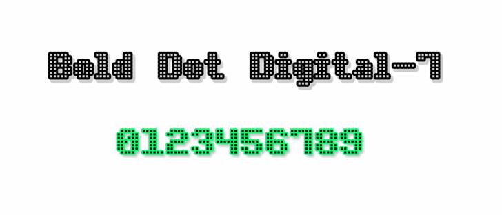 Bold Dot Digital-7 font by Style-7