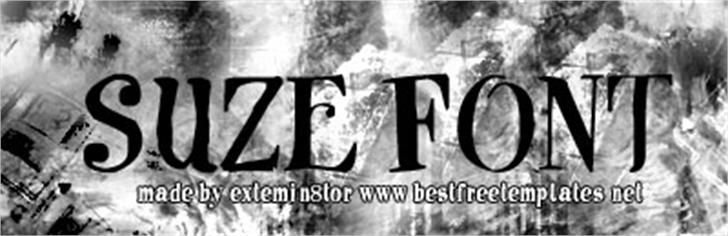 Suze font by extermin8tor