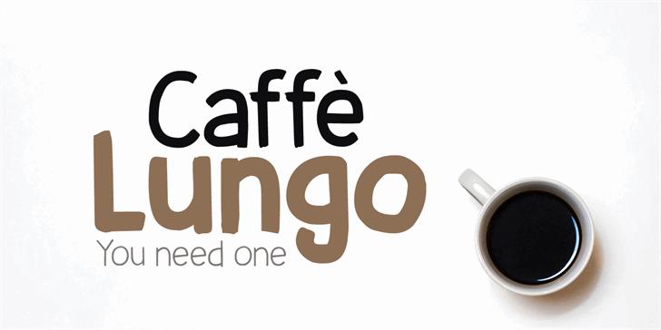 Caffe Lungo DEMO Font design typography