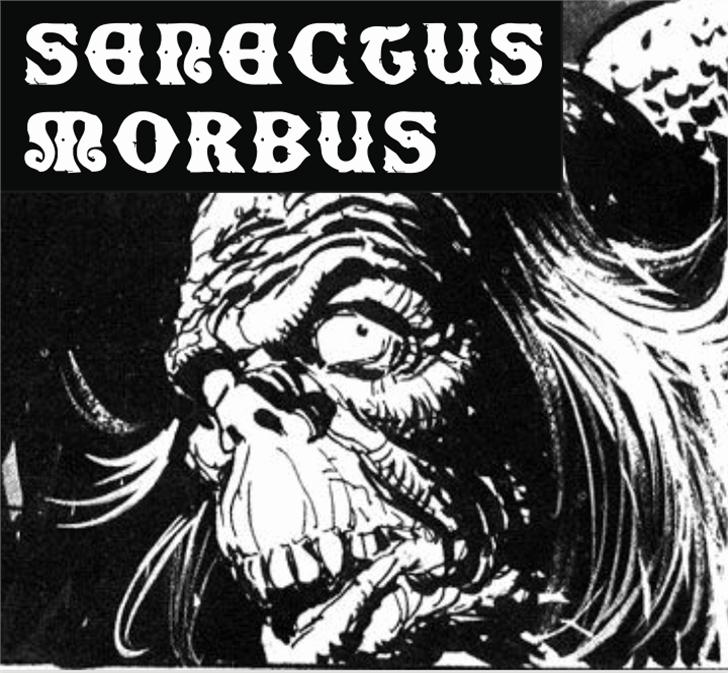 SenectusMorbus Font text book