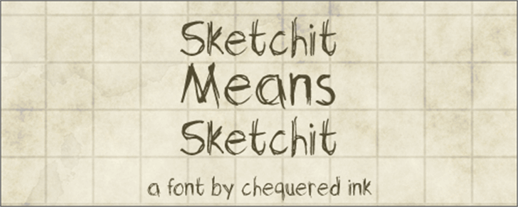 Sketchit Means Sketchit font by Chequered Ink