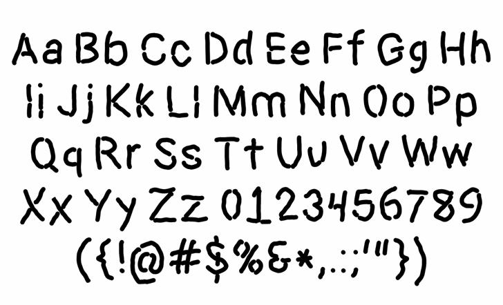 Dictator Font Letters Charmap