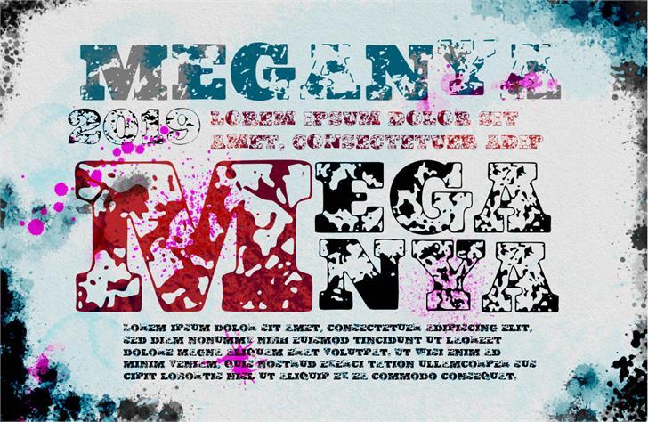 Vtks Meganya Font poster